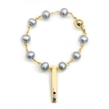 "SARAH JANE WILDE x THOM BROWNE FOR COLETTE ""Tie Pin"" Pearl Bracelet"