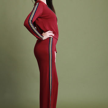 Striped Side Hoodie and Relaxed Fit Pants Set | UrbanOG