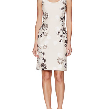 Silk Floral Sheath Dress