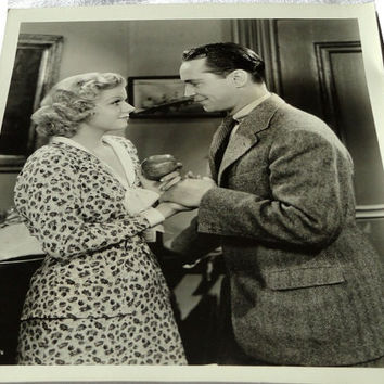 "Jean Harlow, Franchot Tone, ""Suzy,"" Original Photograph, Movie Still, Numbered, Promotional, Hollywood Actors"