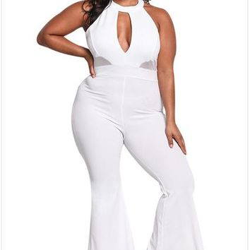 Sexy Plus Size Long Overalls Jumpsuits