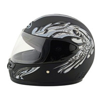 Motorcycle Motor Bike Scooter Safety Helmet 101    dull black