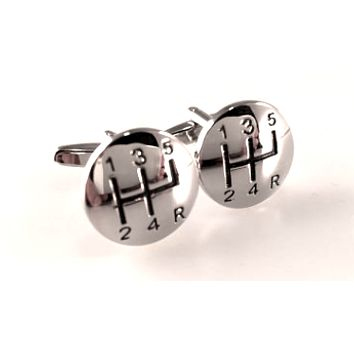 Gear Shift Cuff Links, 5 Speed Cuff Links