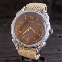 Vintage Ural mens watch, vintage russian watch, USSR CCCP