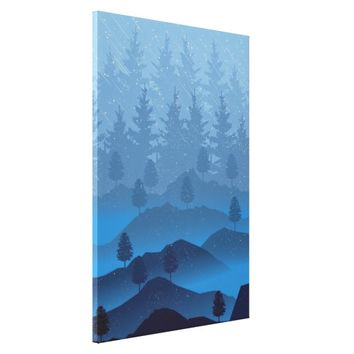 Blue Mountains Canvas Print