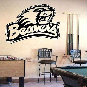 NCAA Oregon State Beavers Logo Emblem Wall Art Sticker Decal (S704)