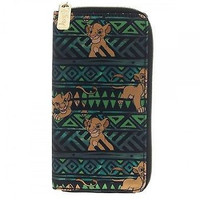 Disney The Lion King Simba Tribal Zip Around Clutch Wallet