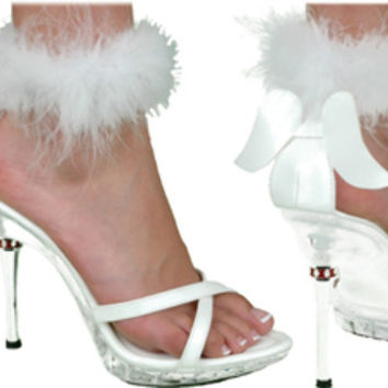 costume shoes: sexy angels - white | medium