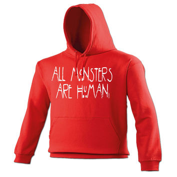 123t USA All Monsters Are Human Funny Hoodie