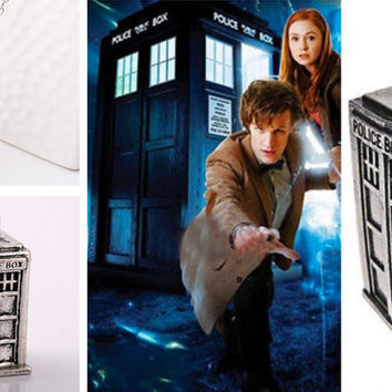 Doctor Who Tardis Necklace Silver - Special Offer