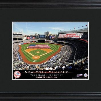 Personalized MLB Stadium Print - Yankees