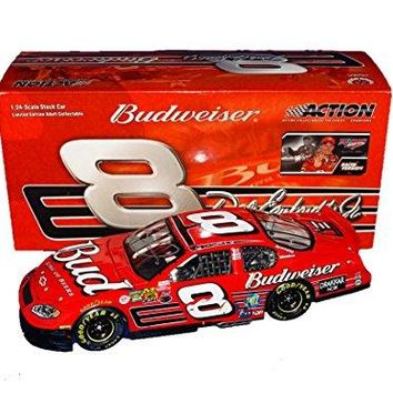 AUTOGRAPHED 2003 Dale Earnhardt Jr. #8 Budweiser Racing 4X TALLADEGA WINNER (Raced Version) Winston Cup Series Rare Vintage Signed Action Collectible 1/24 NASCAR Diecast Car with COA