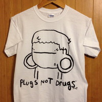Plugs Not Drugs White ( Tee ) | STAY GREAT APPAREL