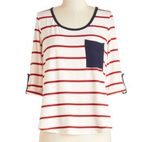 ModCloth Nautical Mid-length 3 Pier and Now Top