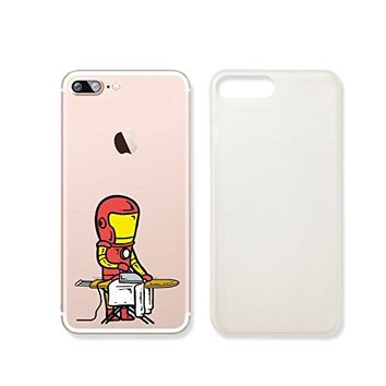 Cute Super Hero Iron Slim Transparent Plastic Phone Case Phone Cover for Iphone 7_ SUPERTRAMPshop (iphone 7)