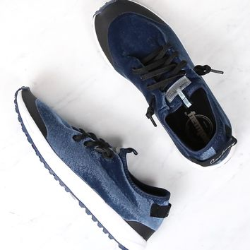 coolway - 'tahali fit' womens velvet blue sneaker