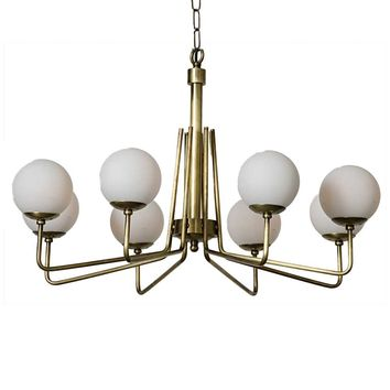 Noir Ray's Chandelier - Brass | Single Tier | Chandeliers | Lighting | Candelabra, Inc.
