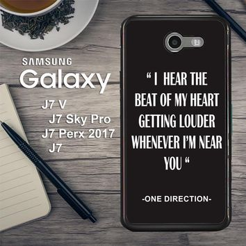One Direction Lyrics R0263 Samsung Galaxy J7 V , J7 Sky Pro, J7 Perx 2017 SM J727 Case