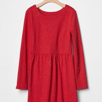 Gap Girls Sparkle Fit & Flare Jersey Dress