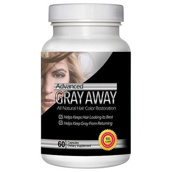 Totally Products Advanced Gray Away Natural Catalase Enhancer (60 Capsules) - prevents and reverses grey hair at the root