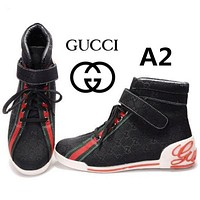 Gucci Fashion Casual High Tops print Running Shoes G