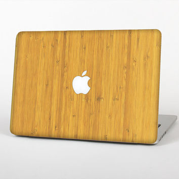 The Real Light Bamboo Wood Skin Set for the Apple MacBook Laptop (Most Versions Available - Choose Coverage)