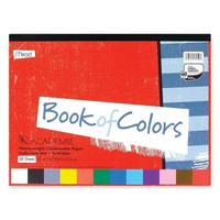 """mead construction paper book, 12""""x9"""", 48 sheets, assorted Case of 7"""