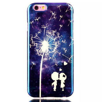 Dandelion Lover Blue Light Case Cover for iPhone & Samsung Galaxy S6  iPhone 6s Plus