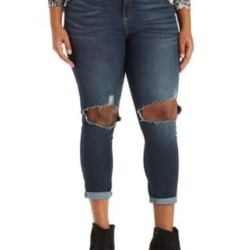 Plus Size Med Wash Denim Cello Skinny Jeans by Charlotte Russe