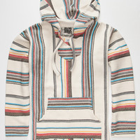 Seor Lopez Chimichanga Mens Poncho Hoodie Natural  In Sizes