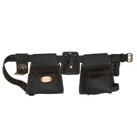 90420 - 6 Piece 10 Pocket Carpenter's Tool Belt Combo in Top Grain Oiled Leather