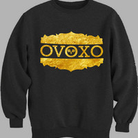 ovoxo words gold Sweater for Mens Sweater and Womens Sweater ***