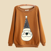 Khaki Santa Claus With Hat Sweet Sweatshirt