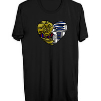 Star Wars Droid Heart Men T Shirts