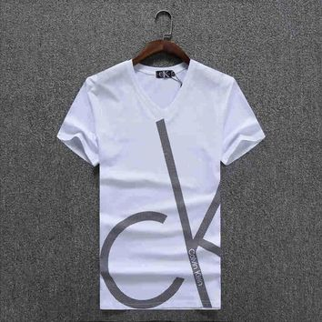 One-nice™ CALVIN KLEIN Women Man Fashion Print Sport Shirt Top Tee