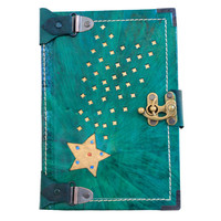 Engraved Shooting Star Leather Journal / Notebook / Diary / Sketchbook / Leatherbound