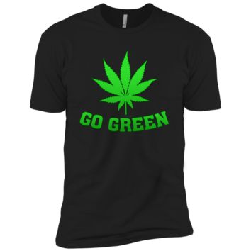 Go Green Weed T Shirt Vape Nation Marijuana Leaf 420 NL3600 Next Level Premium Short Sleeve T-Shirt
