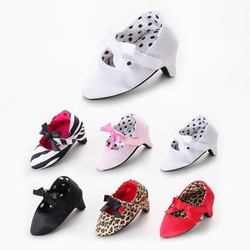Cute Baby Girls High-heeled Shoes For 0-6M Newborn Photo Props Accessories Baby Clothing Sale Ballet Dress Shoes