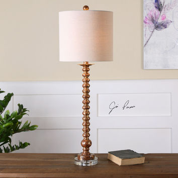 Andalucia Distressed Gold Buffet Lamp