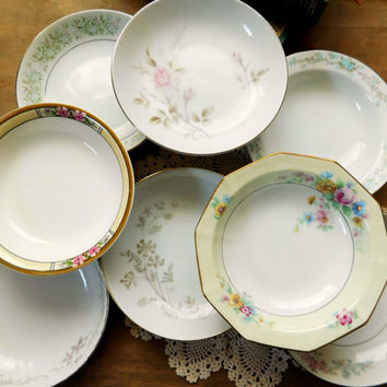 Mismatched China Dessert Bowls