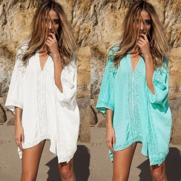 Beach Swimwear Hot Sale Lace Bikini Blouse Jacket [10681939791]