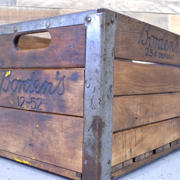 Shop Vintage Milk Crates On Wanelo