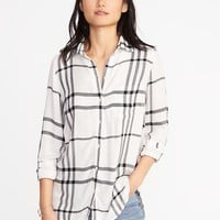 Relaxed Soft-Washed Classic Shirt for Women |old-navy