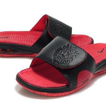 ONETOW Nike Air LeBron Slide Red/Black Casual Sandals Slipper Shoes Size US 7-11