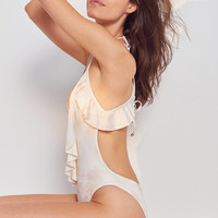 Blue Life Ruffle Romance One-Piece Swimsuit | Urban Outfitters