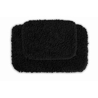 Serenity Washable Black Bath Rug (Set of 2)