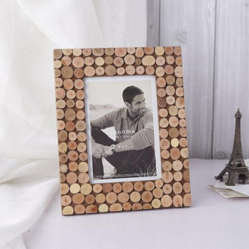 Photo Frame Picture Frame Wood Tree Stump Home Decor Table Desk 5'' x 7''