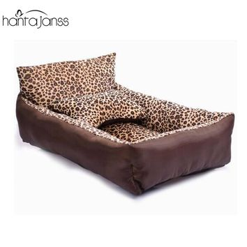 HANTAJANSS Small Dog Bed With Bone Pillow Sofa Dog Mat Pet Seat Cover Kennels Washable Cat Nest House Pet Supplies JCW289
