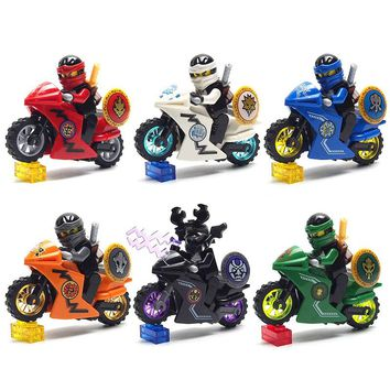 Ninja Figures weapon Building Block brick Motorcycle Marvel Tornado Ninja Building Block DIY Compatible legoed toys for children