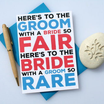 Funny Wedding, Cute Wedding, Funny Engagement, Cute Engagement, Engagement Congratulations, Anniversary, Funny Marriage Card, Bride & Groom
